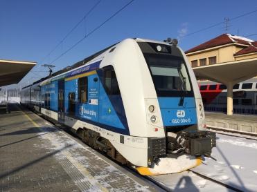 Mein Zug nach Veselí nad České Budějovice.